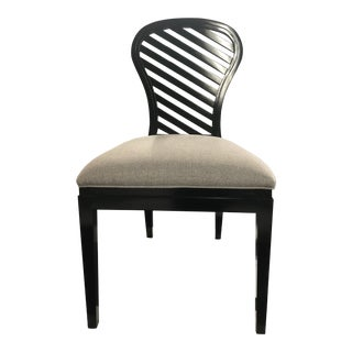 Henredon Black Contemporary Chair by Monk Sike For Sale