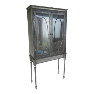 Modern Welded Steel Designer 2 Door Display Cabinet For Sale