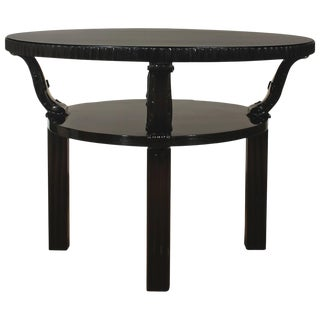 1914 - Center Table by Josef Hoffmann, solid oak, carved feet - Austria, Vienna For Sale