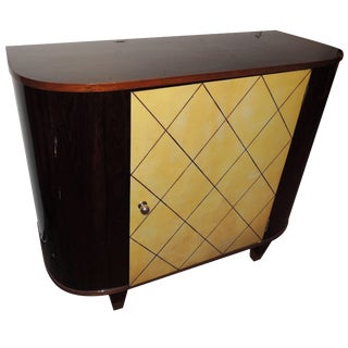 Art Deco Macassar and Pergamino Bar Buffet Cabinet For Sale