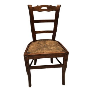 Late 19th Century Tres Chic Country French Chair For Sale