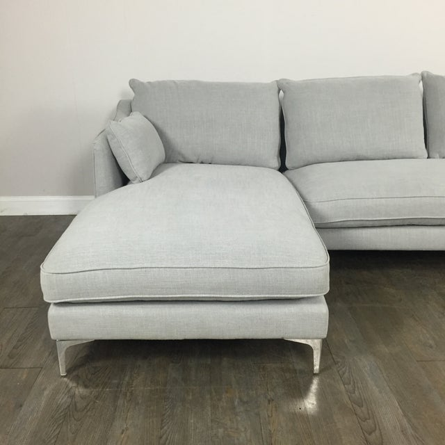Modern Canvas Sectional Sofa - Image 3 of 8