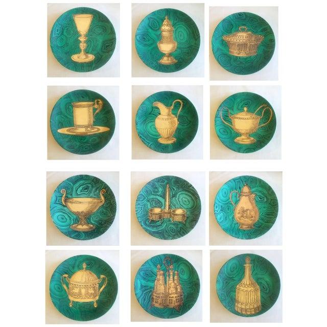 Piero Fornasetti Stoviglie Malachite Plates - Set of 12 - Image 2 of 11