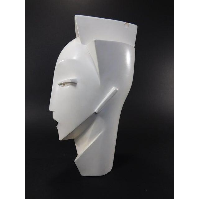 Lindsey Balkweill 1984 Vintage Sculptural Plaster Head - Image 3 of 11