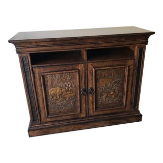 Cabin Style Hand-Crafted Credenza For Sale