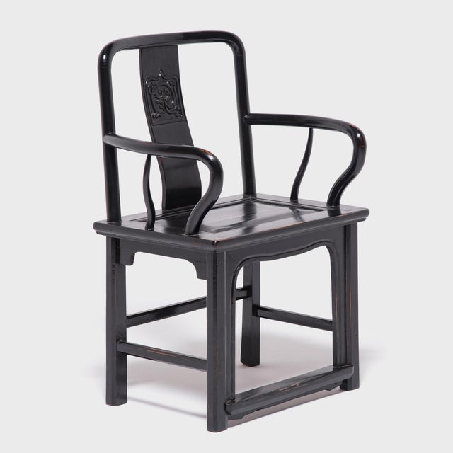Black Chinese Black Guanmaoyi Chair For Sale - Image 8 of 8