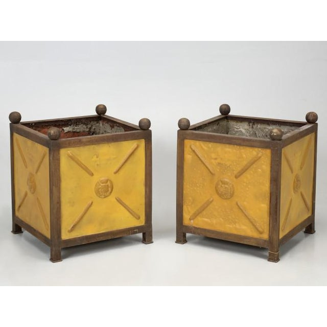 French Orangerie Jardinière Planters - a Pair For Sale - Image 13 of 13