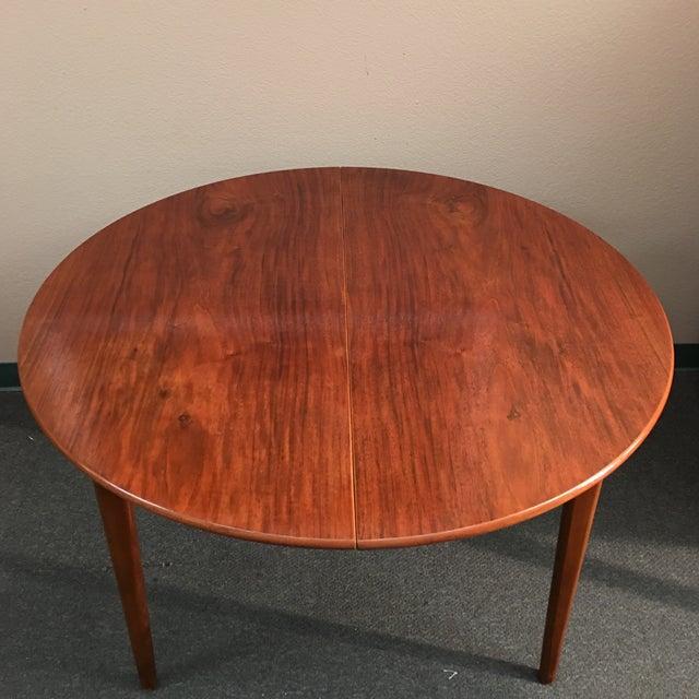 Round Mid-Century Teak Dining Table - Image 4 of 10