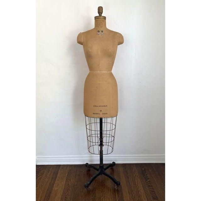 Metal 1950s Mannequin Adjustable Dress Form For Sale - Image 7 of 7