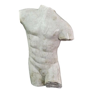 Marquis Collection Of Beverly Hills Tessellated Stone Male Nude Torso For Sale