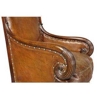 Regency Mahogany and Leather Upholstered Bergere Chair Preview
