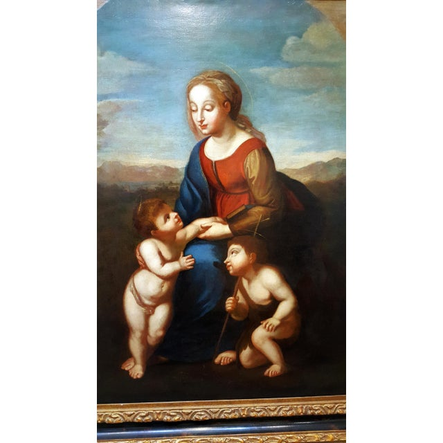 Madonna With Child -17th Century Italian Old Painting For Sale In Los Angeles - Image 6 of 10