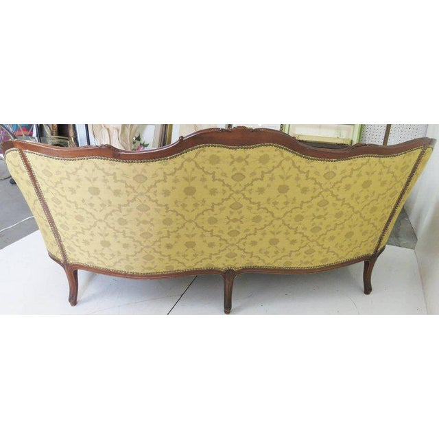 Wood Louis XV Style Carved Walnut Sofa For Sale - Image 7 of 8