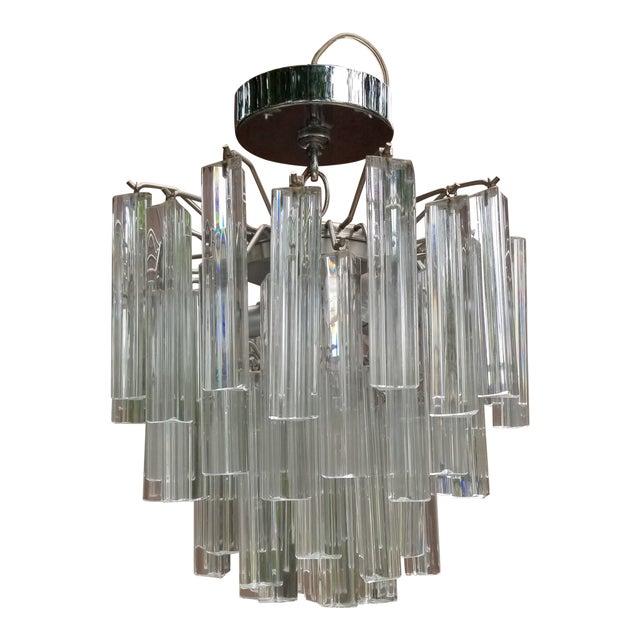 1960s Italian Glass Chandelier For Sale
