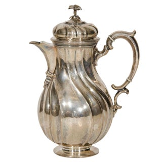20th Century Traditional Silver Metal Coffee Pot For Sale