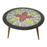 Image of Mid-Century Modern Round Mosaic Coffee Table For Sale