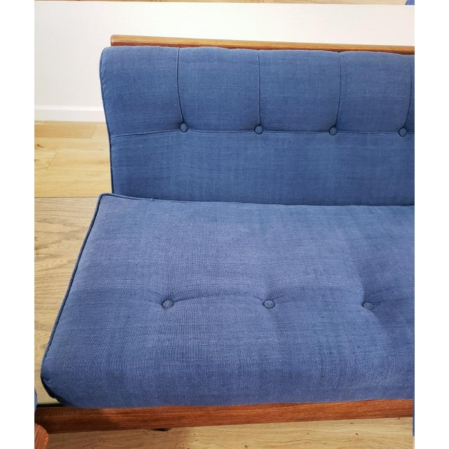 Fabric Blue Mid-Century Modern Sectional Sofa For Sale - Image 7 of 8