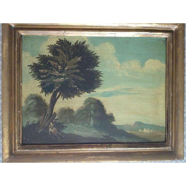 Italian Pair of 19th Century Italian Landscapes For Sale - Image 3 of 9