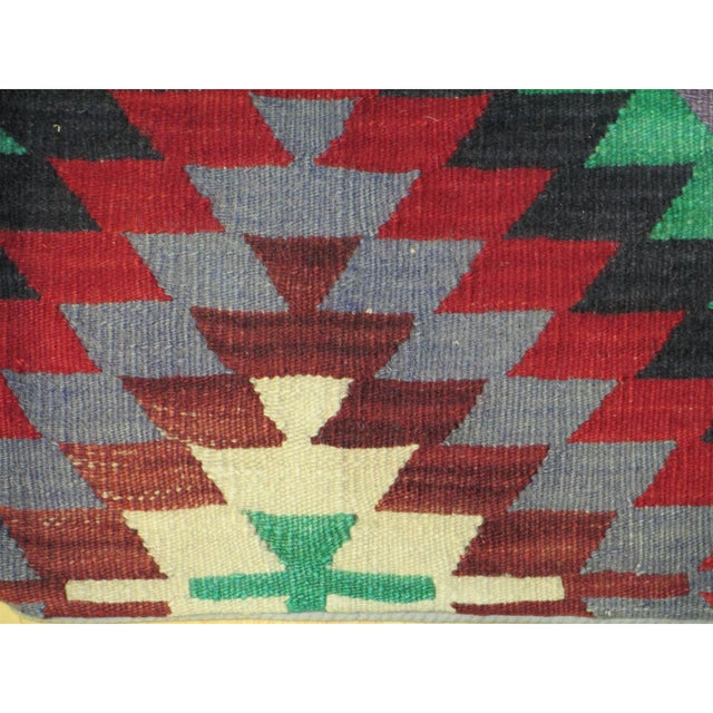 Vintage 1960s Turkish Kilim Pillow Cover - Image 3 of 3