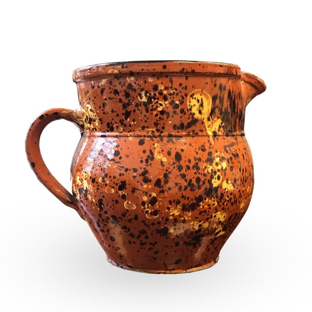 French 19th Century Red-Ware Pitcher For Sale - Image 4 of 7