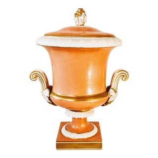 Mottahedah Urn Vase Centerpiece Gold Salmon For Sale