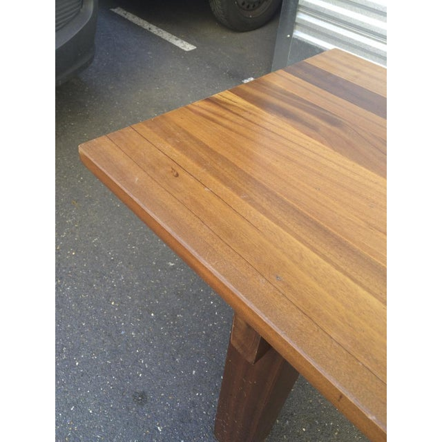 "Charlotte Perriand Charlotte Perriand Mahogany Long Dining Table Model ""Brazil"" Stamped Ed Sentou For Sale - Image 4 of 8"