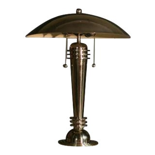 Machine Age Table Lamp For Sale