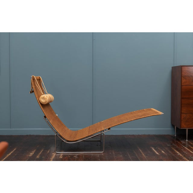 Wood Poul Kjaerholm PK24 Chaise Lounge For Sale - Image 7 of 13