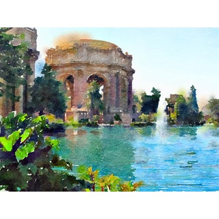 """""""Palace of Fine Arts - San Francisco"""" Contemporary Digital Print by Suzanne MacCrone Rogers For Sale"""
