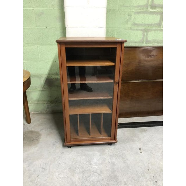 Mid-Century Modern Vintage Mid Century Cabinet With Glass Door For Sale - Image 3 of 3