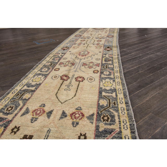 "Traditional Apadana Oushak Runner Rug - 2'6"" x 16' For Sale - Image 3 of 7"