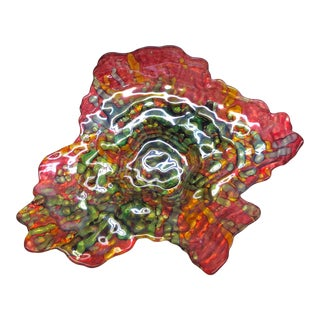 Artisan Hand Blown Glass Art Coffee-Table Bowl For Sale
