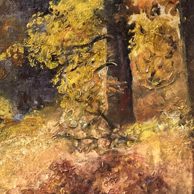 Autumn Forest Oil on Canvas Early 20th Century For Sale - Image 4 of 11