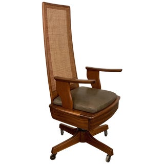 Mid-Century Modern High Back Executive Office Chair For Sale