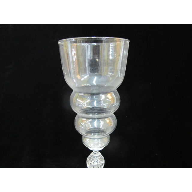 Seventh Circle Tall Clear Drinking Wine Champagne Spirits Glass For Sale - Image 4 of 7