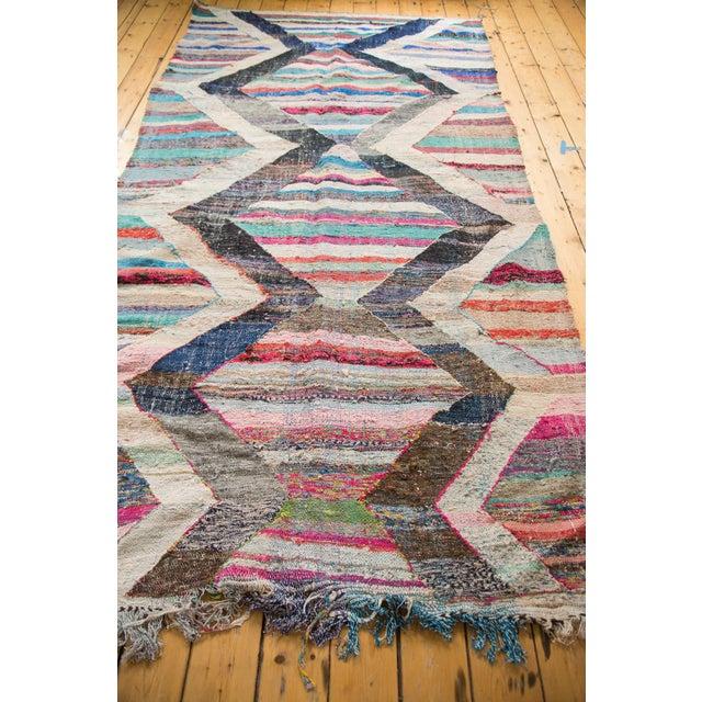 """Textile Vintage Rag Rug Runner - 5'3"""" X 10'11"""" For Sale - Image 7 of 9"""