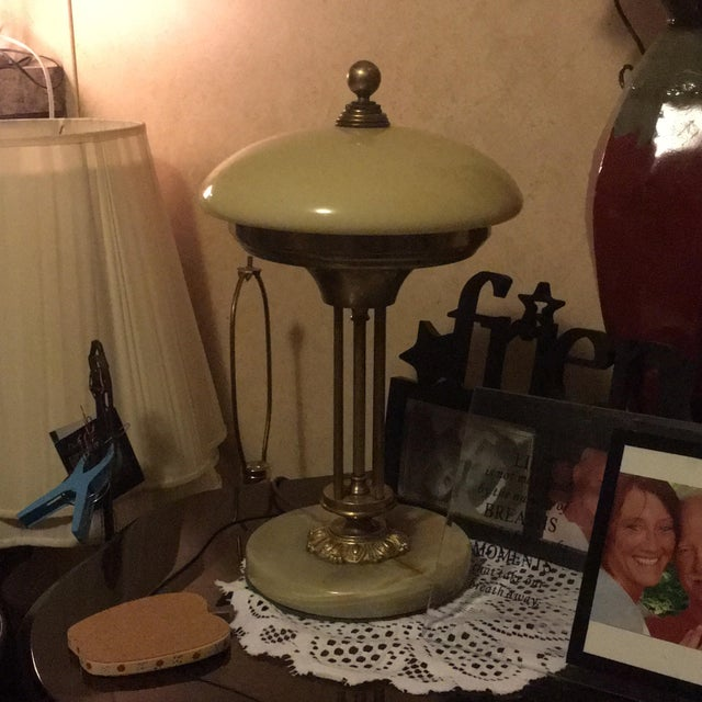 Brass & Marble Table Lamp - Image 3 of 4
