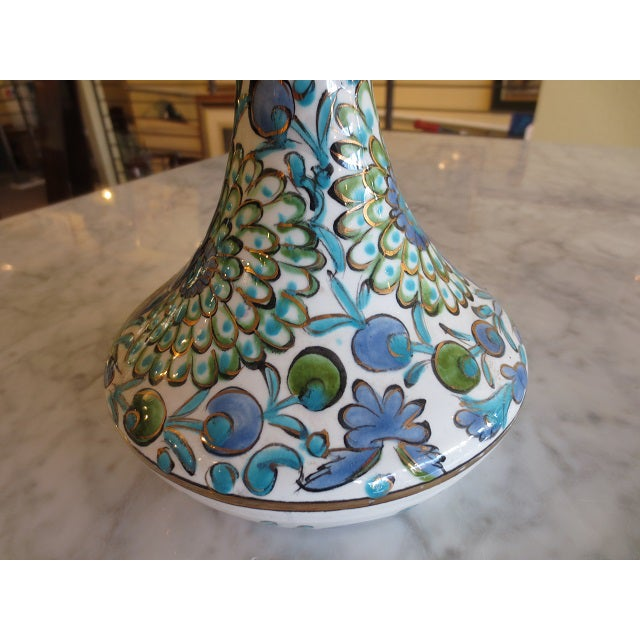 Hand Painted Greek Flower Vase - Image 5 of 9