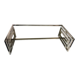 Romeo Rega Modernist Greek Key Coffee Table For Sale