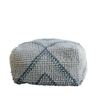 New Zealand Wool Blend Pouf For Sale