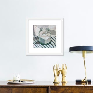 """Small """"Sugar Jar on Stripes"""" Print by Caitlin Winner, 15"""" X 15"""" Preview"""