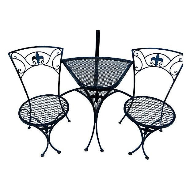 Salterini T 234 Te 224 T 234 Te Settee With Umbrella Stand Chairish