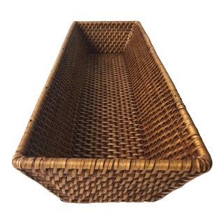 Vintage Rattan Bread Basket-Artifacts For Sale
