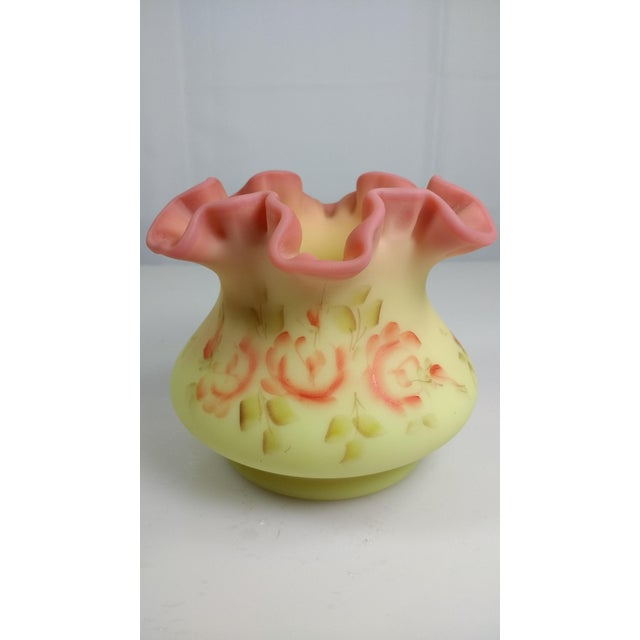 Fenton Burmese Yellow Satin Rose Vase - Image 4 of 11