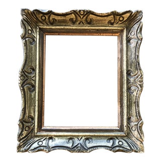 Vintage Mid Century Carved W/Painted Finish French Style 8 X 10 Frame For Sale
