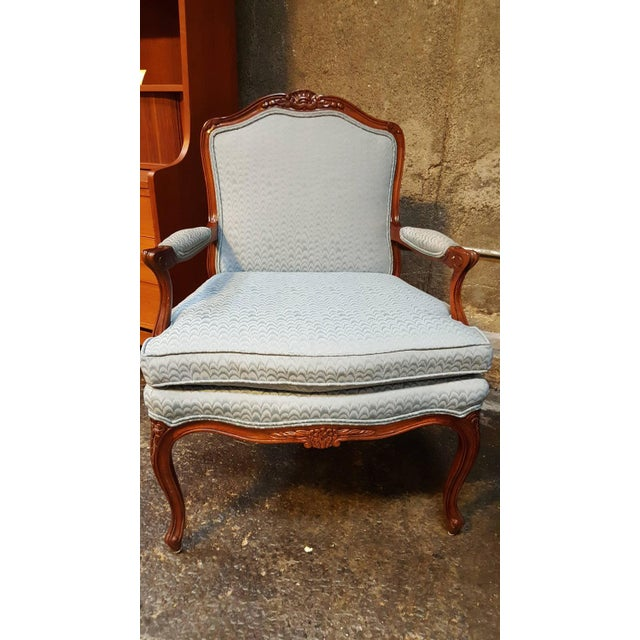 Louis XV Style Bergere Lounge Chairs - Pair - Image 6 of 6