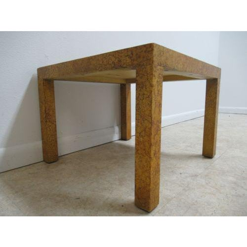 Mid-Century Modern Henredon Decorator Faux Painted Coffee Table For Sale - Image 3 of 10