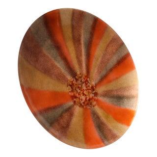 Vintage Bovano Orange Enamel on Copper Plate For Sale