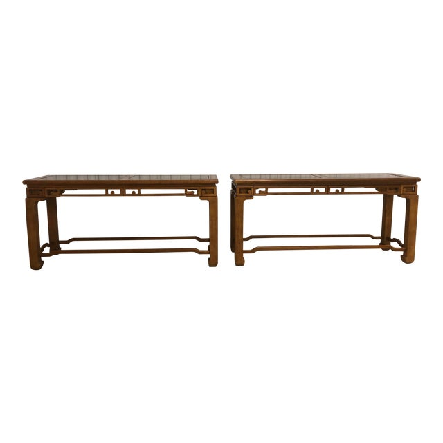 1970s Chinese Style Sofa Console Tables - a Pair For Sale