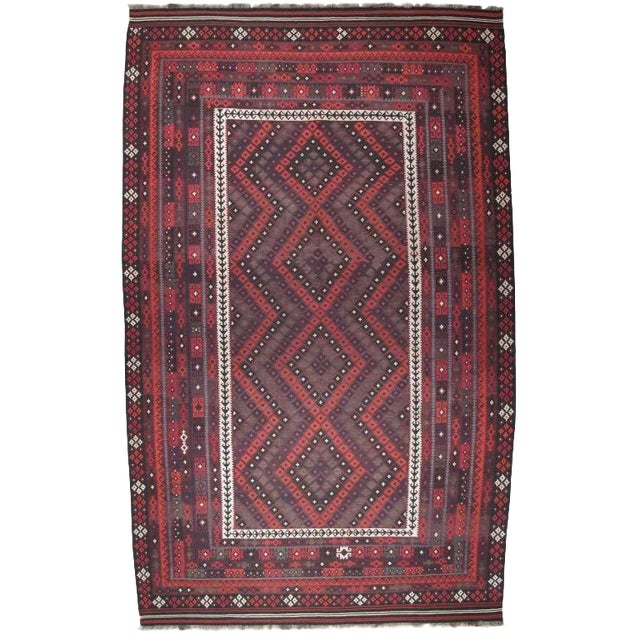 Large Afghan, Uzbek Kilim For Sale